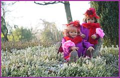 Sanrike und Milina ... der Tag war schön ... (Kindergartenkinder) Tags: kindergartenkinder annette himstedt dolls sanrike gruga grugapark essen milina