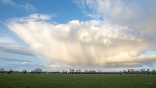 Rain clouds over Tealham Moor