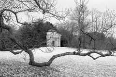 Kew Gardens-19032018-24.jpg (Colin Dorey) Tags: folly kew kewgardens bw monochrome blackwhite blackandwhite tree botanic gardens richmond surrey uk london park garden snow march 2018