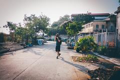 Gotcha! (]vincent[) Tags: hk hong kong china asia canon 50 mm sony rx 100 mk iv girl self ginger beautiful portrait people bicycle cheung chau trip island sea blue sun ocean dusk