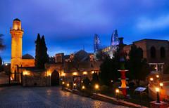 "P1030369 DUSK SHOT FROM THE ""INNER CITY"" - BAKU (omersad) Tags: panasoniclumix fz1000 dusk buildings night landmark urbanarchitecture baku azerbaijan"