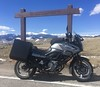 The motorcycle and some mountains in Montana (montanatom1950) Tags: montana vstrom suzuki mountains motorcycletouring