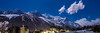 Chamonix at Night Panorama (Wolfhowl) Tags: chamonixvalley france frenchalps brevent landscape montblanc chamonixmontblanc mountains buildings panorama франція town snow clouds spring savoy 12am alpinemountains march travel forest winter montblancmassif шамоні chamonix night europe alps mountain