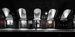 Baker Street (Jonathan Vowles) Tags: london tube sherlock selective platform lights railway