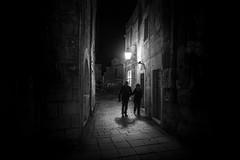 Split, Croatia (pas le matin) Tags: street candid portrait people wall road rue building city ville cityscape split croatia croatie hrvatska europe europa silhouette streetlight lampadaire night nuit monochrome nb bw blackandwhite noiretblanc canon 7d canon7d canoneos7d eos7d
