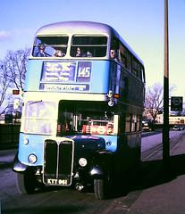 Slide 116-63 (Steve Guess) Tags: dagenham barking london essex england gb uk bus aec regent iii rt rt3232 kyy961 lrt regional transport