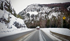 ON THE ROAD AGAIN (shoebox50) Tags: canons120 crowsnesthighway britishcolumbia canada semitrailer slippery