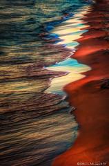 Sunset On The Beach (murf50) Tags: greatlakes otherkeywords owensound paulmurphy saublebeach water lakehuron landscape nature sand sunset waves