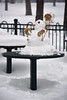Snowman on table, Minnehaha Park (schwerdf) Tags: minneapolis minnehahapark minnesota snow snowfalling snowmen