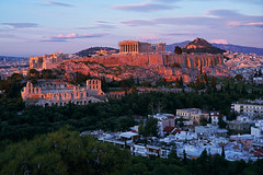 Before sunset (basic hiking) Tags: athen athens greece griechenland city urban panorama sunset acropolis red sonyalpha a5100 ilce5100 selp1650