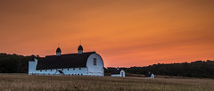 D. H. Day Barn... (Kevin Povenz Thanks for all the views and comments) Tags: 2017 september kevinpovenz upnorth barn dhdaybarn sleepingbeardunes sunrise sun clouds orange early morningsky morning earlymorning canon7dmarkii field