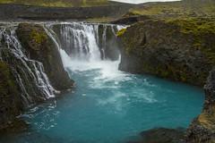 Sigöldafoss (^Diana^) Tags: 4087a waterfall green arctic glacialwater glacier nature iceland melting power energy sigöldafoss