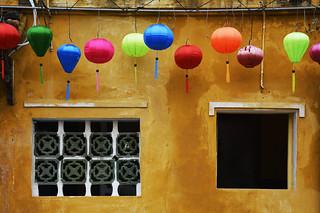 windows in hoi an, vietnam