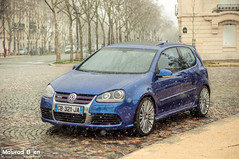 VW Golf V R32 (Mourad Ben Photography) Tags: volkswagen golf r32 vr 6 v6 paris rain deep blue