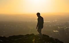 Twilight (Edinburgh Photography) Tags: nature landscape sunset man climbing walking arthurs seat hill nikon d7000