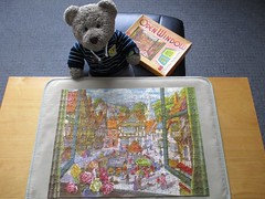 Not too smelly... (pefkosmad) Tags: jigsaw puzzle pastime leisure hobby vintage towerpress complete used secondhand theoldmarketsquare throughanopenwindow tedricstudmuffin teddy bear animal cute toy cuddly stuffed soft plush fluffy old