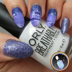 Purple Monochrome Nail Art (ithinitybeauty) Tags: glitter church manicure nails nailart nailsart art artist artwork freehand design illustration paint painting beauty beautyblogger shimmer purple monochrome orly binky london