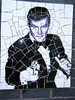 Manchester street art = James Bond = SIR ROGER MOORE mosaic (rossendale2016) Tags: evening smart bowtie tie bow morning suit dress revolver gun vertical wall backed adhesive white grouted grouting grout clever artist flat flickr unusual artistic tiling crazed mosaic man handsome thrill kill licence british agent secret films fleming ian 007 well much loved famous iconic cracked tiles film actor sir moore roger bond james art street manchester