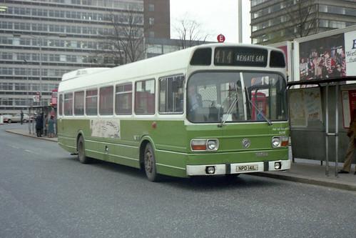 London Country Leyland National LNB41, West Croydon, 21st April 1979