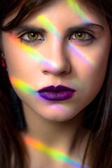 Rainbow Eyes (Dani_vr) Tags: rainbow arcoiris ojos eyes light luz cara colores color