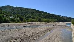 Psezuapse downstream (МирославСтаменов) Tags: russia sochi lazarevskoye river pebble watercourse hill slope forest