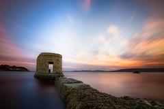 T H E • T O W E R (Dominique Richeux Photography) Tags: sunset sunrise seascape sea tower ruins sun light mer ocean antibes