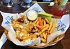 Wings with Caesar and ranch dressings and hot sauce; fries; celery and carrot sticks; blue cheese dressing; Bloody Caesar (Will S.) Tags: mypics wildwing ottawa ontario canada chickenwings frenchfries bluecheesedressing caesar celery carrot hotsauce possumpie poster sign