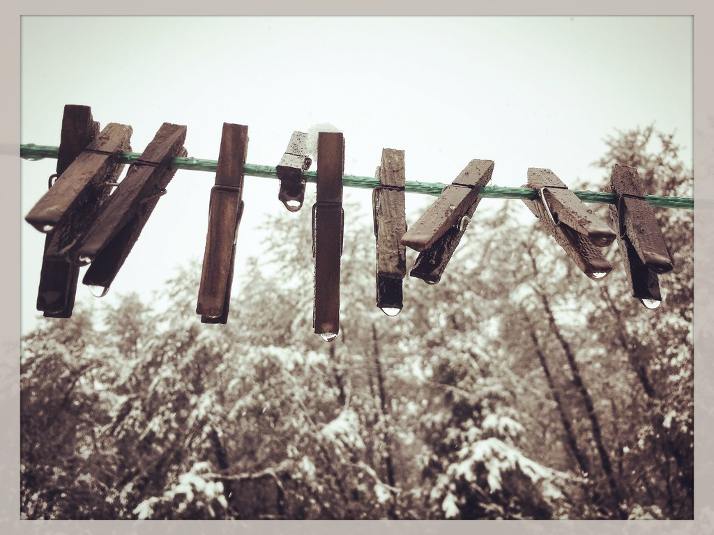 Image result for apron on clothesline winter