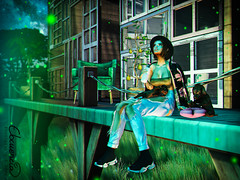 Fireflies (elocuenciaresident) Tags: hair foxy lamb n21 hat cocofeltfedorahatblack top moon elixir aurora uber jeans villena destroyed mom washed blue kustom9 cardigan cocoshouldercardiganblackfloral shoes bleich mesh memento black tmd puppys bantam unlikely friends head genesisheadmolly bento skin genesislabskincasey house milk motion the meadow c88 grass skybox