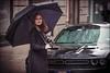Brooklyn (Chris 1971) Tags: sharon dodge challenger retro brooklyn newyorkcity rain regen umbrella coat lady vrouw dame female