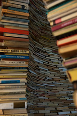Tower of books (gooey_lewy) Tags: mini moon prague praha czech republic cz tower books book art sculpture beautiful beauty love close gap