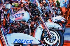 NEW YORK #55 (S©'rates) Tags: new york nyc nypd police night bikes enamels paintings art arte cuadro pintura esmalte policia motos
