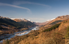 The Braes of Balquhidder (Douglas Hamilton ( days well spent )) Tags: braes balquhidder loch viol icy stirlingshire scotland douglas hamilton nikon d5200 hills winter scenic reflections blue skies mist