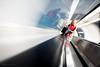 Checking bag on Bank Travelator (Luke Agbaimoni (last rounds)) Tags: london londonunderground londontube transportforlondon trains escalator streetphotography street