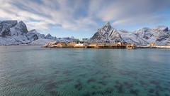 Sakrisøy (Mika Laitinen) Tags: canon5dmarkiv europe lofoten norway norwegiansea sakrisøy scandinavia architecture cloud cold landscape mountain nature ocean outdoors sea shore sky snow water winter nordland no