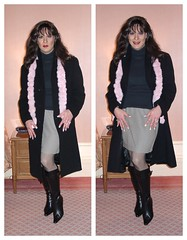 Black Wool Coat collage (xgirltv1000) Tags: tgirl tgirloftheday trans transwoman transgender transisbeautiful genderfluid crossdress makeover transformation gno girlslikeus girlsnightout michellemonroe