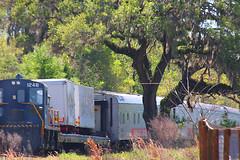 USAF Whitcomb RS-4-TC #1248 & RBBX Railcars, Kirby Family Farm, Williston, FL (gg1electrice60) Tags: kirbyfamilyfarm amusementsfordisadvantagedchildren comfortforcriticallyillchildren needsvolunteers 19650ne30thstreet 19650northeast30thst 19650nethirtiethst 1965030thstreet sixgunterritory 6gunterritoryreenactment samhuston diesel diesellocomotive dieselengine firstgenerationdiesel baldwinlocomotiveworks newamusementpark openingin2019 trainrides rescuedcarnivalrides williston levycounty florida fl unitedstates usa us america 18rbbxcircuscars passengercars endcabswitcher baldwinwhitcombrs4tc1248