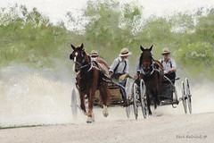 The Home Stretch (Earl Reinink) Tags: pastel painting art amish mennonite earl reinink earlreinink horse wagon race