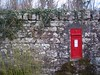Post at Noon, Milton of Redcastle, Black Isle, Mar 2018 (allanmaciver) Tags: royalmail red letterbox letter post send collect unique wall castle black isle scotland highlands old vintage style allanmaciver