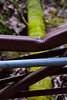 Dented Railing (thatSandygirl) Tags: ohio outdoors nature southernohio hockinghills lucas park trail hiking conkleshollowgorge metal bent dented fallentree brown green focus depthoffield bokeh march spring earlyspring