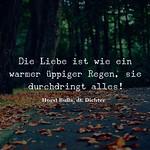 Die Liebe ist wie ein warmer  üppiger Regen - Zitat Horst Bulla thumbnail