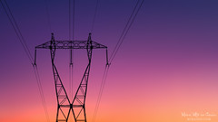 Atardecer eléctrico (Mimadeo) Tags: high voltage highvoltage tower transmission pylon electricity sunset power energy engineering sky electric supply line wire industry technology steel silhouette cable electrical structure industrial distribution metal dusk sunrise orange evening pole beautiful landscape copyspace