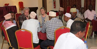 Taina and I together with Muslim leaders.