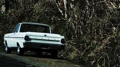 Ranchero (creepingvinesimages) Tags: htt ford ranchero white pickuputility highway101 oregon coast dusk nikon d7000 pse14 toopaz