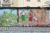 Easter Mural at Altwiener Ostermarkt (Brian Aslak) Tags: wien vienna viedeň österreich itävalta austria rakúsko europe city urban freyung altwienerostermarkt jesus easter crucifixion resurrection biblical story passion mural wall painting art christian christianity påske eastermarket østerrike