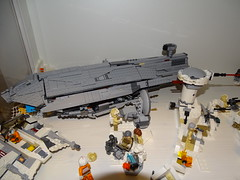 Rebel transport (Cpt. Ammogeddon) Tags: star wars lego moc custom ucs mini scene movie space ship vehicle mod photo real life play kid teen hobby