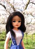 Where you the one who wanted to meet? (dolldudemeow24) Tags: sindy doll dolls ofelia school girl cherry blossom tree sakura festival pink flowers sweet brown hair spring 2018