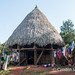Embera hut and washing