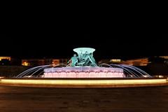 Triton Fountain (Douguerreotype) Tags: fountain lights dark night city malta valletta water