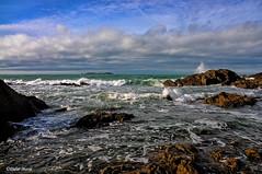 Marée montante (1) (didier95) Tags: mareemontante mer stmalo illeetvilaine bretagne paysage nature ciel nuage rocher vague